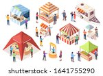 street or fast  junk food tents.... | Shutterstock .eps vector #1641755290