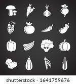 vegetable related icons set on...   Shutterstock .eps vector #1641759676