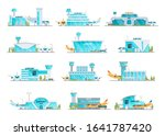 airport building and airplanes  ... | Shutterstock .eps vector #1641787420
