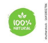 100   organic  bio  eco ... | Shutterstock .eps vector #1641802786