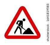 construction traffic sign...   Shutterstock .eps vector #1641819583
