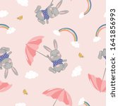 Seamless Pattern With Rabbits ...
