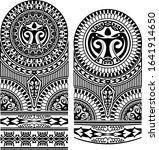 half sleeve tribal tattoo...   Shutterstock .eps vector #1641914650