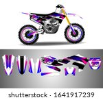 motocross decal wrap design...   Shutterstock .eps vector #1641917239