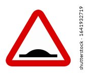 bump caution traffic road sign...   Shutterstock .eps vector #1641932719