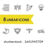 anatomic icons set with medical ...