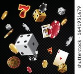 gold casino poker chips and... | Shutterstock .eps vector #1641951679