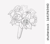 bridal bouquet icon line... | Shutterstock .eps vector #1641965440