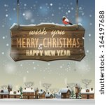 vector merry christmas and... | Shutterstock .eps vector #164197688
