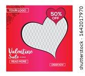 editable valentine's day post... | Shutterstock .eps vector #1642017970