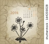 Artistic Vintage Calendar With...
