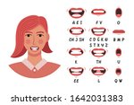 lip sync collection for... | Shutterstock .eps vector #1642031383