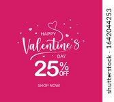 valentines day banner. poster...   Shutterstock .eps vector #1642044253