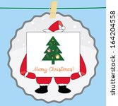christmas greeting card41 | Shutterstock . vector #164204558