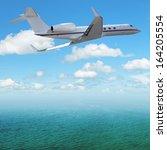 private jet plane over the... | Shutterstock . vector #164205554