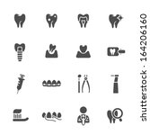 dental theme icons | Shutterstock .eps vector #164206160
