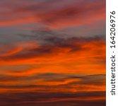 sunset sky background  | Shutterstock . vector #164206976