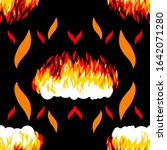 fire seamless pattern for shirt ... | Shutterstock .eps vector #1642071280