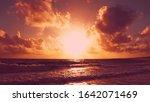 Dramatic Sky Daybreak Over The...