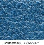 blue leather texture closeup  | Shutterstock . vector #164209574