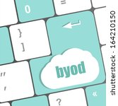byod keyboard key of a notebook ... | Shutterstock . vector #164210150