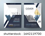 annual report brochure flyer... | Shutterstock .eps vector #1642119700