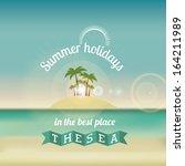 summer design over landscape ...   Shutterstock .eps vector #164211989