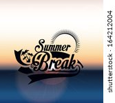 summer design over pink... | Shutterstock .eps vector #164212004