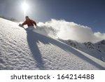 snowboard freerider  in the... | Shutterstock . vector #164214488