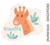 A Little Giraffe Looks Out...