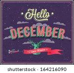 hello december typographic... | Shutterstock .eps vector #164216090