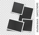 retro photograph set isolated... | Shutterstock .eps vector #1642176040