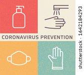 coronavirus  2019 ncov  disease ... | Shutterstock .eps vector #1642184293