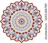 floral hand drawn mandala.... | Shutterstock .eps vector #1642186789