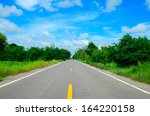 countryside road straight... | Shutterstock . vector #164220158