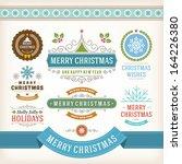 christmas decoration vector... | Shutterstock .eps vector #164226380