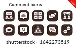 comment icon set. 10 filled...