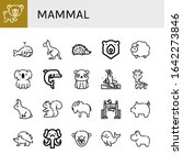set of mammal icons. such as... | Shutterstock .eps vector #1642273846