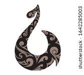 stylized maori symbol represent ...   Shutterstock .eps vector #1642285003