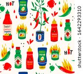 Red Hot Chilli Sauces. Red And...
