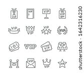 vip related icons  thin vector... | Shutterstock .eps vector #1642316230