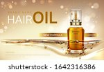 hair oil cosmetics bottle... | Shutterstock .eps vector #1642316386