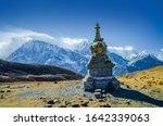 Stupa At Kicho Tal  Ice Lake ...