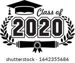 lettering class of 2020 for... | Shutterstock .eps vector #1642355686
