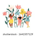 women diverse of different... | Shutterstock .eps vector #1642357129