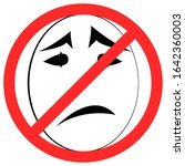 banned white sad face isolated...   Shutterstock .eps vector #1642360003