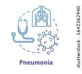 pneumonia concept icon. alveoli ... | Shutterstock .eps vector #1642362940