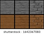 set of seamless wooden patterns ...