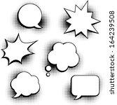 set of speech bubbles in pop... | Shutterstock .eps vector #164239508