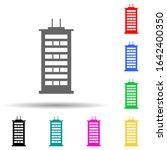 high rise buildings multi color ...